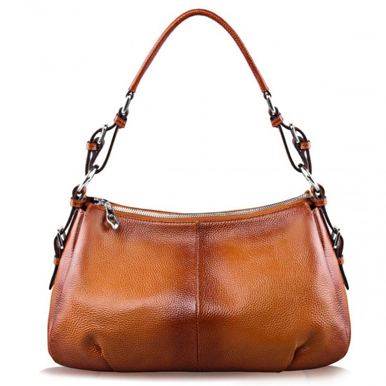 Womens Hobo Genuine Leather Shoulder Bag Top-handle Handbag Ladies Purse