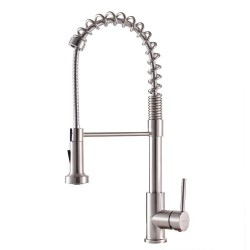 Britt Spot Free Stainless Pre-Rinse/Commercial Kitchen Faucet with Dual Function Sprayhead in all-Brite Finish