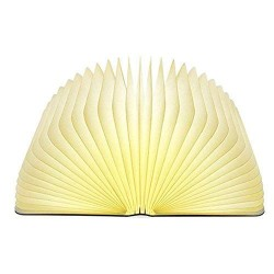 Book Light,Wood Grain Folding Lamp, Night Light Magicfly USB Book 2 Colors Led Table Lamp,Environmentally Material