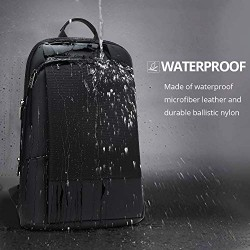 15 Inch Laptop Backpack Men Women, Professional Slim Business Bag, Lightweight Anti-Theft College Bags Black