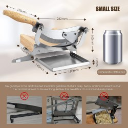 Slicer Manual Radiused Biltong Slicer, with Magnetic Stainless Steel Tray, for Chinese Herbs, Biltong, Beef Jerky, Hard Fruits and Vegetables, Nougat