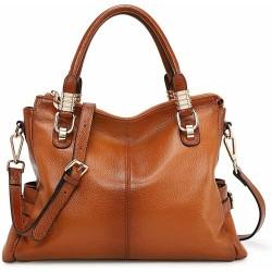 Women Genuine Leather Handbag Shoulder Purse Satchel Tote Crossbody Bag