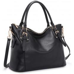 Women Genuine Leather Satchel Handbag Work Tote Shoulder Purse Crossbody Bag