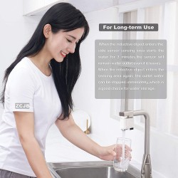 Touchless Faucet Adapter for Kitchen Bathroom Sink Smart Sensor Faucet with Anti-Overflow Protection Easy to Install