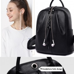 Casual Genuine Leather Women Backpack Brand Real Leather Female Large Capacity School Bags for Teenage Girls 2020