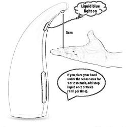 ABS Automatic Liquid Soap Dispenser Pump Distributeur de Savon Dispensador Infrared Smart Sensor Kitchen Bathroom Tools White,Colour:White