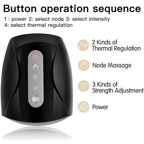 Cordless Hand Massager, Electric Hand Massager with Compression, 3 Levels Air Pressure and Heating Massage Machine for Arthritis, Pain Relief, Carpal Tunnel and Finger Numbness