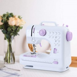 Sewing Machine, Electric Household Sewing Machine with 12 Kinds of Floral Stitch for Home, Beginner, Tailors, Free-Arm Crafting Mending