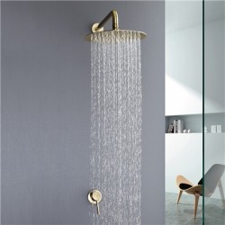 Rain Head Mixer Shower System Concealed  Brushed Gold / Chrome / Black Optionals