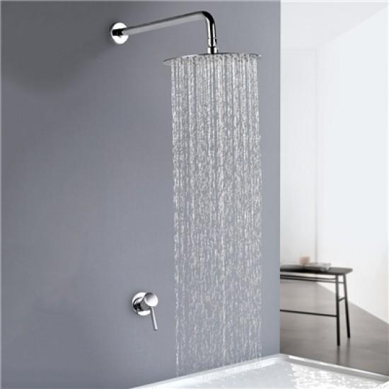 Rain Head Mixer Shower System Concealed  Brushed Gold / Chrome / Black Optionals