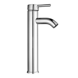 Bathroom Bowl Vessel Sink Lavatory Faucet Single Handle One Hole Deck Mount Tall Body Chrome