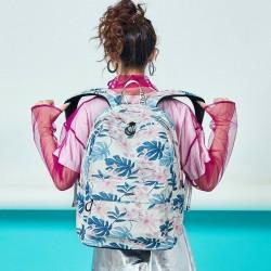 Girls Backpacks Floral Print Backpacks Canvas Backpack School Bag for Girls leaf