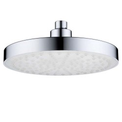 """8"""" Inch Round Bathroom LED Light Rain Top Shower Head 7 Colors Automatic Changing LED Overhead Shower Head Water Glow Chrome Finish"""