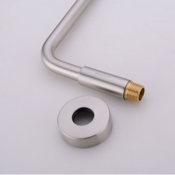Brass S Shaped Shower Arm And Flange - Brushed Nickel