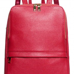 Hot Style Women Real Genuine Leather Backpack Fashion Bag (Rose)