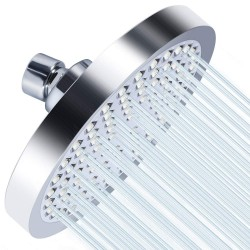 Luxury Spa Series, 6 inch Round High Pressure Rainfall Shower Head, Rainfall Experience Chrome Finish