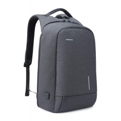 Lightweight Laptop Backpack, Computer Bag Slim Laptop Rucksack with USB Charging Port TSA Lock Anti Theft Bag Grey