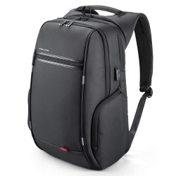 Laptop Backpack, Business Travel Computer Bag with USB Charging Port Anti-Theft Water Resistant Black with Sucker