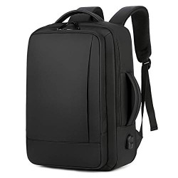 Men and Women Travel Laptop Backpack, Large College Backpack (Black)