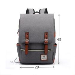 Slim Business Laptop Backpack Casual Daypacks Outdoor Sports Rucksack School Shoulder Bag for Men Women,Tear Resistant Unique Travelling Backpack in Grey
