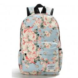 Fresh Style Women Backpacks Floral Print Bookbags Canvas Backpack School Bag for Girls Rucksack Female Travel Backpack