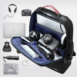 Business Backpack Men's Trend Leisure Travel Backpack Usb Charging Port Simple Fashion Computer Bag