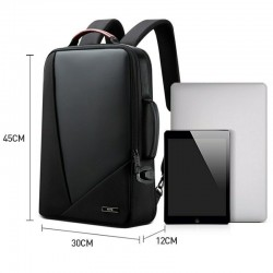 Business Backpack Men's Trend Leisure Travel Backpack Usb Charging Port Simple Fashion Computer Bag