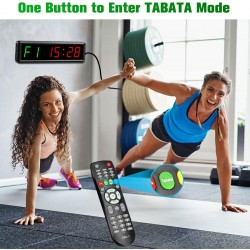 Interval Timer,Fitness Training Home Garage Gym Timer Count Down/Up Clock Stopwatch with Remote Control for Crossfit, Tabata, EMOM, MMA