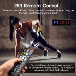 """Interval Timer Count Down/Up Clock, 1.5"""" 6 Digits LED Gym Timer Stopwatch with Remote for Home Gym Fitness Workouts Garage"""
