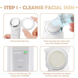 Facial Skin Care Machine - Promote Face Cream Absorption, Anti-Aging - Skin Tightening - Wrinkle Reducing- Massage Eye - Deep Cleaning Skin, Facial Massager for Women