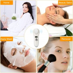 Hot and Cold Face Massager, Sonic Cordless Handheld Facial Massager Electric Face Product Exfoliator Deep Cleansing Device , Vibration Heated and Cool Dual Modes Self Skin Care Kit Tool
