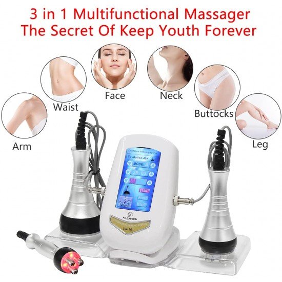 40K Massage Tools, Multifunctional Body Facial Beauty Massager Face Skin Care Facial Face Smooth Skin Line for Neck Waist Thigh and Buttock 3 in 1 Machine