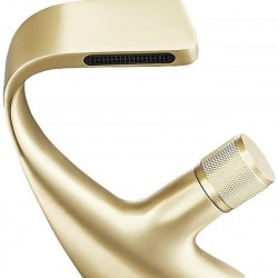 Single Handle 1-Hole Waterfall Bathroom Sink Faucet in Brushed Gold (Brushed Gold)