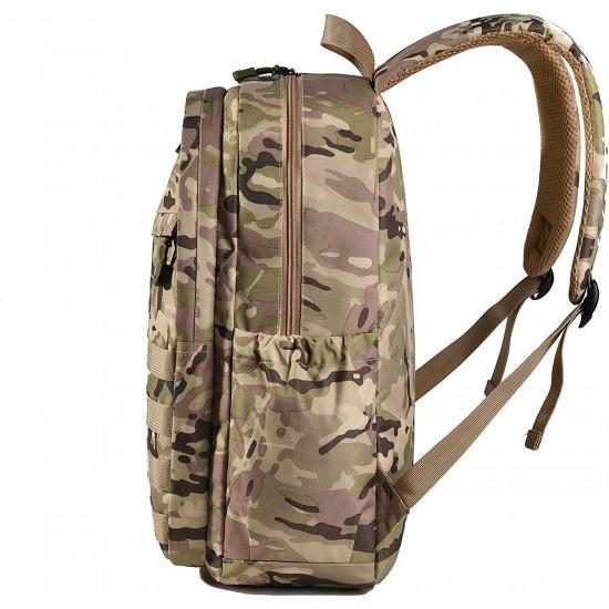 Boys Backpack Waterproof Kids School Bag Outdoor Travel Camping Daypack Camo Rucksack