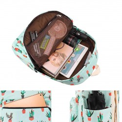 Canvas School backpack Set Lightweight Teen Girls Women Kids School Bags College Bookbag Fits 14 Inch Laptop Bag