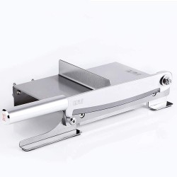 Manual Ribs Meat Slicer Household Stainless Steel Bone Cutting Slicing Machine Chicken Lamb Chops Ribs Herb Pastry Cutter for Home Cooking