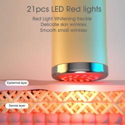 LED Light Facial Massager,Light Based Over The Counter Wrinkle Reduction - RED Light Device,Skin Rejuvenation Face Tightening Instrument,Anti Wrinkle Device Skin Whitening Device.