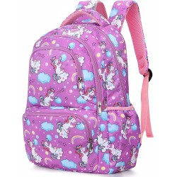School Bag for Girls Unicorn Backpack Cute School Backpack Boy Rucksack Student Bookbag Lightweight Travel Daypack for Boys Girls Teenage