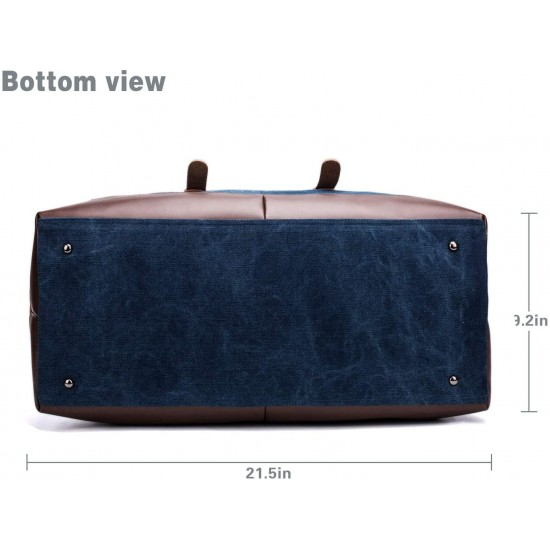 Travel Bag with Durable Canvas and Pu Leather is not Easy to Tear and Break, Suitable for Business Trip, Tourism, Camping and Outdoor Activities (Grey)