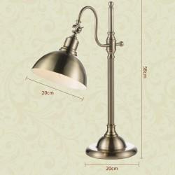 European Bedroom Bedside lamp Copper Plated Eye Protection Learning Desk lamp American Retro Desk lamp