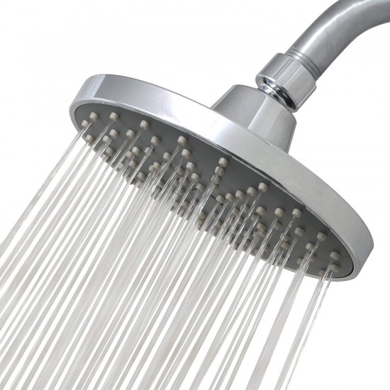 Shower Head Round High Pressure High Flow Shower head Chrome Finish Shower with a Waterfall Rainfall Feeling Universal Replacement For Bathroom Shower Heads