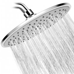 10 Inch Rain Shower Head High Pressure with Thin Chrome Large Coverage Rainfall Spray Shower Relaxation stainless steel