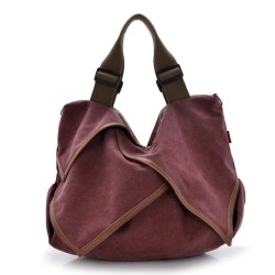 Women's Medium Size Casual Cotton Canvas Tote Bag Shopping Bag Lady Handbag Shoulder Bag Beach Bag