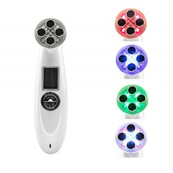 Facial Skin Care Time Master, RF Face Toning, Face Lift Device 5 Colors LED Photon Therapy Rechargeable