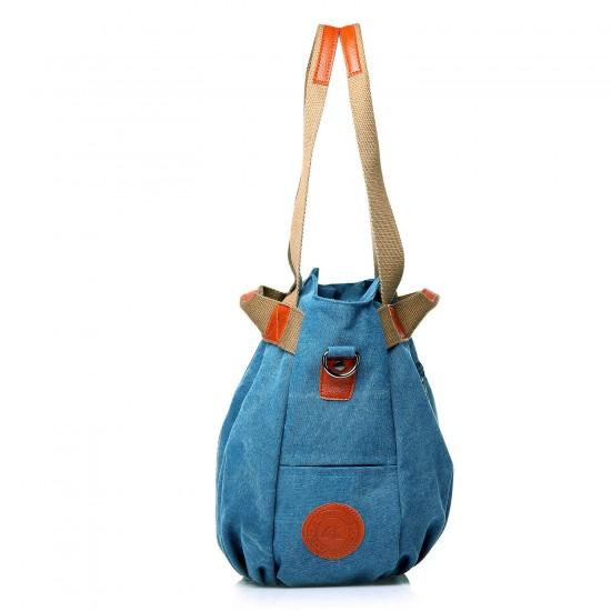 Women's Ladies Casual Vintage Hobo Canvas Daily Purse Top Handle Shoulder Tote Shopper Handbag