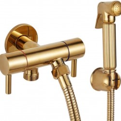 Bathroom Shower Taps Set Sprinkler Head Faucet Pressurized Golden Toilet Washer Shower Sprinkler Faucet
