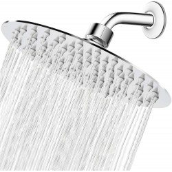 High Pressure Shower Head, 8 Inch Rain Showerhead, Ultra-Thin Design-Best Pressure Boosting, Awesome Shower