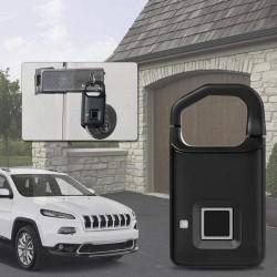 Fingerprint Lock, USB Rechargeable Smart Keyless Anti-Theft Padlock Suitcase Door Lock Burglar Alarm Security Systems