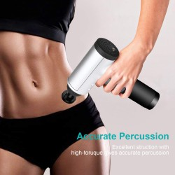 6 Speeds Massage Gun, Cordless Handheld Deep Tissue Muscle Massager, Chargeable Percussion Device Super Quiet
