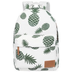 Backpack for Teen Girls Women with Multi-Pockets Cute Bookbag Daypack Travel Bag (Pineapple)